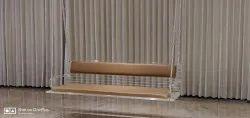 Elegant Acrylic Swing with Cushion