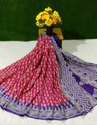 Girraj Printers Casual Wear Cotton Saree With Blouse Available