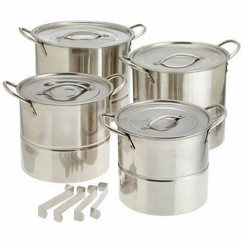 Stainless Steel Momos Stock Pot, for Hotel/Restaurant