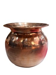 silver touch Cylindrical copper premium lota, Size: 8number, Capacity: 1litr Water