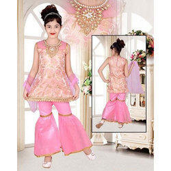 b76638a64 Girls Round Neck Party Wear Sharara Suit
