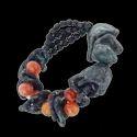 Stone Aluminium Nugget Bracelet