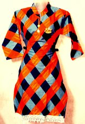 Cotton 3/4th Sleeve Kurti, Size: xxl