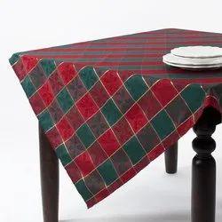 Organic Cotton Jacquard Square Tablecloth
