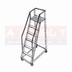 Aluminium Trolley Step Tower Ladder