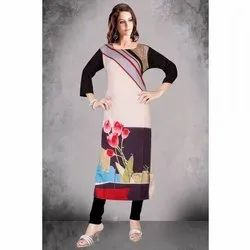 Fancy Crepe Digital Printed Kurti