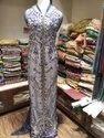 Net Embroidered Ladies Sherwani Dress
