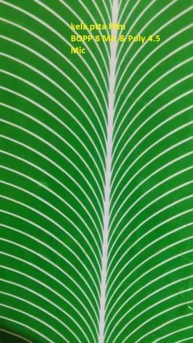 Paper Plate Raw Material - Banana Leaf Green Color Film
