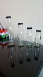 Transparent GLASS BOTTLE, Size: 200 & 300ml