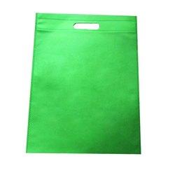 Green Non Woven Bag D Cut 50 GSM