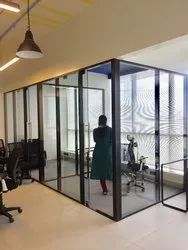 Transparent Glass Cabin Partition