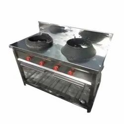 Stainless Steel Two Chinese Cooking Range