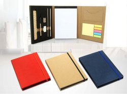 Notebook With Wooden Stationary Set