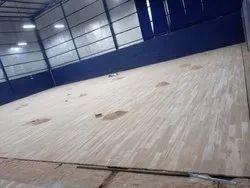 Brown Badminton Court  Wooden Flooring