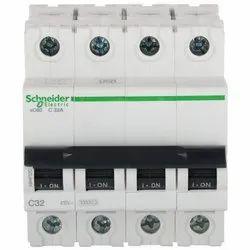 Schneider 63A Four Pole MCB