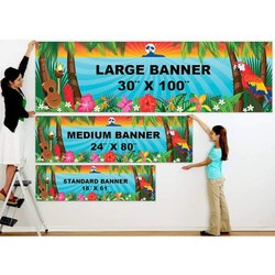 Rectangle Multicolor Flex Banner, For Advertising