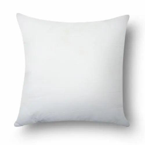 Plain White Cotton Cushion