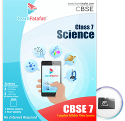 1 CBSE Class 7 Science Video Course SD Card
