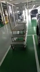 Aluminum Two Step Mobile Work Platform
