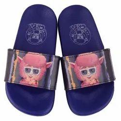 Blue EVA + PVC CRYA 'FSB' Kids Unisex Slip On Slipper, Features: Anti-skid And Lightweight