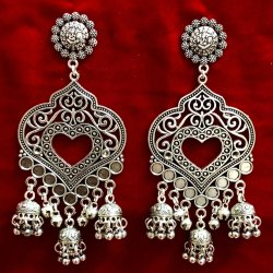 Oxidized Ladies Earrings For Festivals