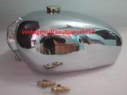Royal Enfield Constellation 700cc Twin Chrome Steel Petrol Tank 1960''''s With Brass Cap And Tap