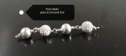 Silver Beads, Shape: Round