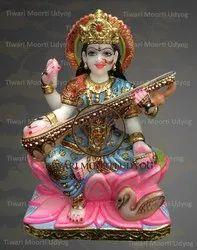 Marble Statue Of Saraswati Maa