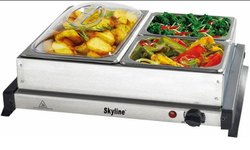 Silver Stainless Steel Skyline Portable Buffet Server VTL-9666 For Hotel
