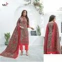 Embroidery Work Fancy Cotton Dress Material
