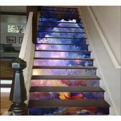 Stair Printed Glass Tiles