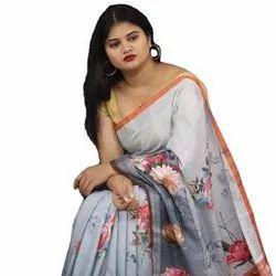 Pure Jacquard Linen Saree
