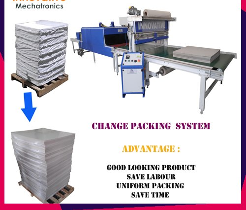 Duplex Paper Board Shrink Wrapping Machine - Paper and Board Shrink Packaging Machine
