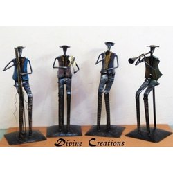 Divine Creations Iron Rajasthani Musicians Group