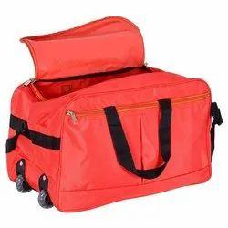 Nylon Red Luggage Trolley Bag, Size: 20.5 X 31 X 11 Inch