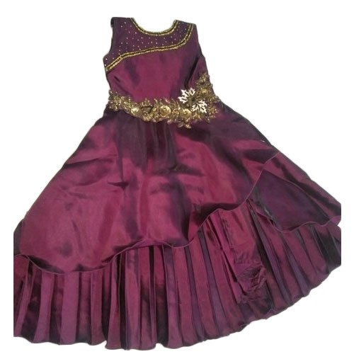 Raj Collection Party wear Girls Maroon Designer Dress