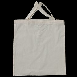 Off White Woven Canvas Organic Cotton Tote Bag