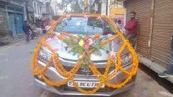 White Wedding Car decoration, in Bhopal