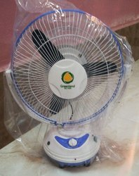White Blue Greenland Solutions Ac Dc Rechargeable Table Fan