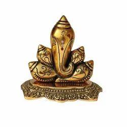 AJN-83 Brass Ganesha Statue