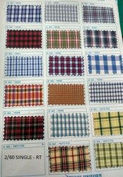 Uniform Check Fabric For Shirts