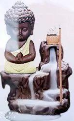Decorative Craft Buddha Smoke Burner Fountain