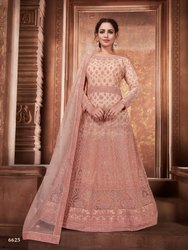 Latest Net Designer Gown With Net Dupatta By Parvati Fabric