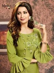 Ladies Kurti With Embroidery Work For Women