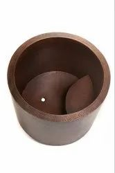 Japanese Style Soaker Hammered Copper Bathtub NJO-7513