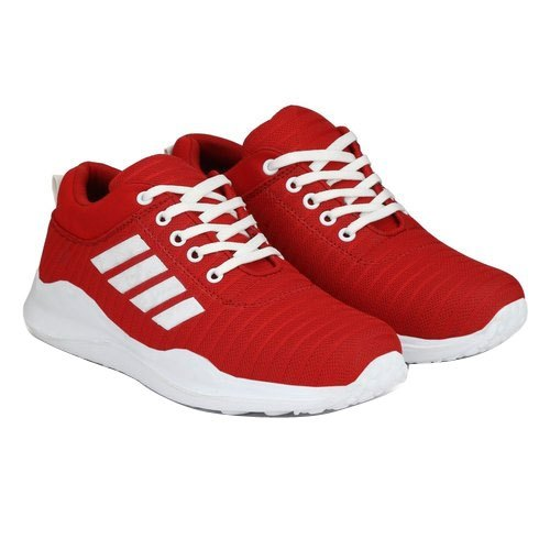 Red And White Men Red Running Shoes