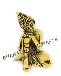 Metal Gold Plated Resting Buddha