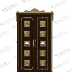 Traditional Astalakshmi Pooja Room Door