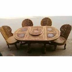 Vasavi Black Wooden Dinette Set