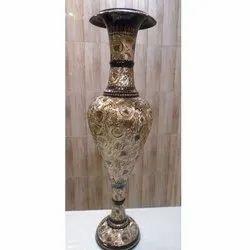 Kashmiri Brass Flower Vase